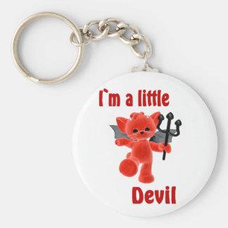 I ` m un petit diable porte-clé rond