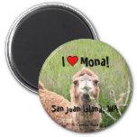 I ♥ Mona ! Magnet Rond 8 Cm