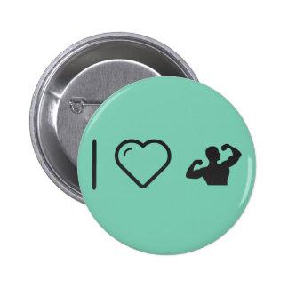 I musculations de coeur badge rond 5 cm
