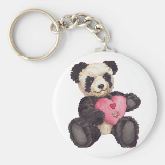 I panda du coeur U Porte-clef