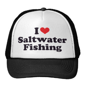 I pêche d'eau de mer de coeur casquette trucker