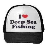 I pêche maritime profonde de coeur casquettes de camionneur