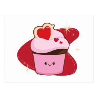 I petits gâteaux de coeur cartes postales