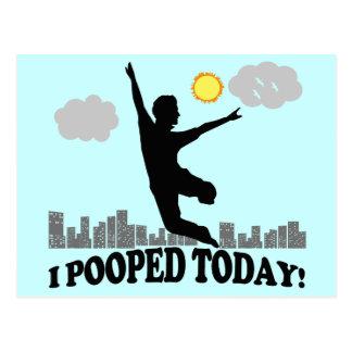 I Pooped aujourd'hui Carte Postale