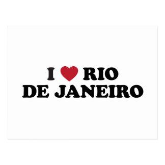 I Rio de Janeiro Brésil de coeur Carte Postale