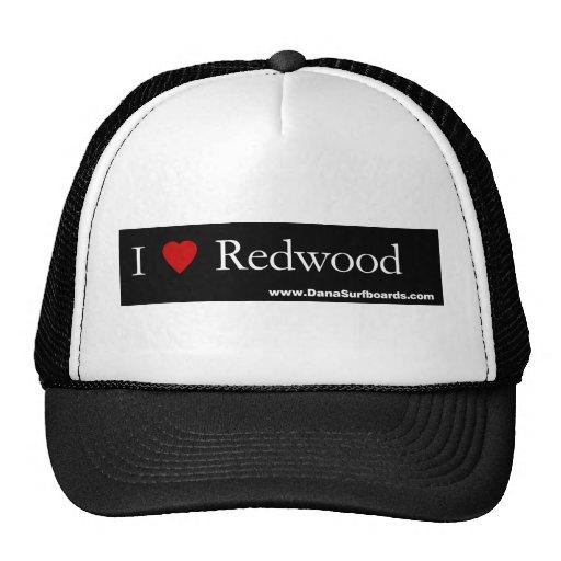 I séquoia de coeur, chapeau de camionneur de planc casquette de camionneur