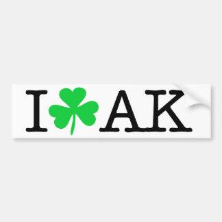 I shamrock (coeur d'amour) Alaska AK Autocollant Pour Voiture
