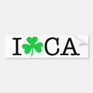 I shamrock (coeur d'amour) la Californie CA Autocollant Pour Voiture