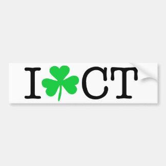 I shamrock (coeur d'amour) le Connecticut CT Autocollant Pour Voiture