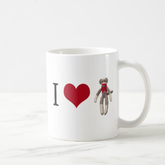 I singe de chaussette de coeur mug
