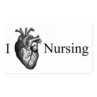 I soins de coeur carte de visite standard