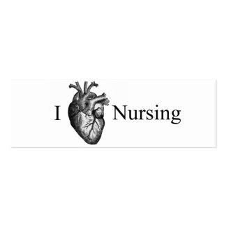 I soins de coeur carte de visite petit format