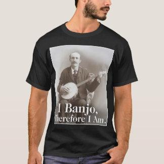 I T-shirt court foncé de la douille des hommes de