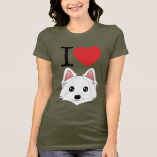 I T-shirt de chiens esquimaux de coeur