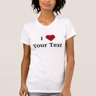 I T-shirt de coeur (personnalisez)