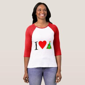 I T-shirt de Noël de coeur