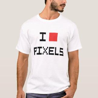 I T-shirt de pixels de coeur