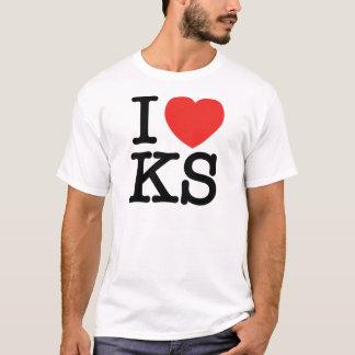 I T-shirt du Kansas de coeur