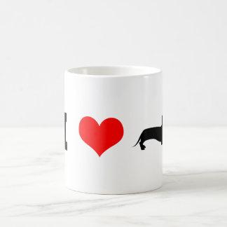 I teckels de coeur (amour) mug