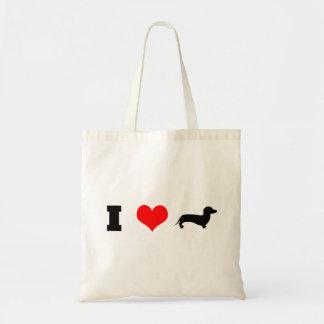 I teckels de coeur (amour) sac