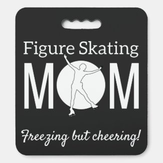 Ice rink seat cushion - Figure skating mom