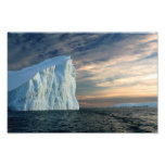 Iceberg antarctique, les eaux glaciales, photo dra