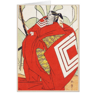 Ichikawa Danjuro V dans un rôle Katsukawa de Shiba Cartes De Vœux