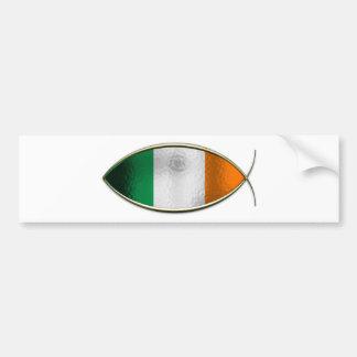 Ichthus - drapeau irlandais autocollant de voiture