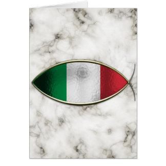 Ichthus - drapeau italien carte de vœux