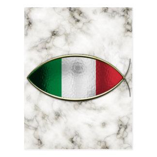 Ichthus - drapeau italien cartes postales