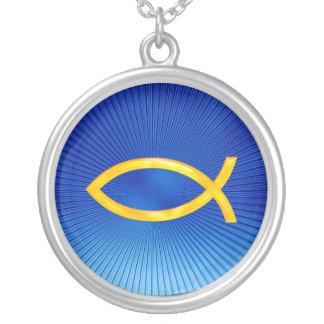 Ichthus - symbole chrétien de poissons - collier