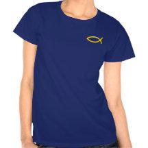 Ichthus - symbole chrétien de poissons t-shirt