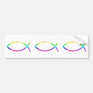 Ichthus - symboles chrétiens de poissons autocollant pour voiture