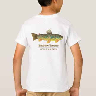 Ichtyologie de latin de truite de Brown T-shirt