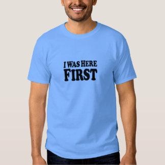 Ici d'abord empilé - T-shirt bleu