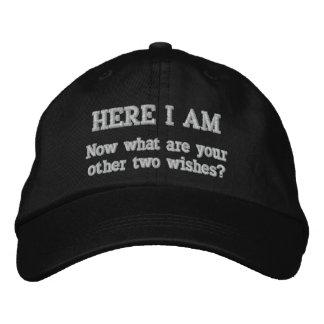 Ici je suis chapeau brodé
