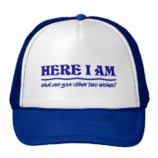 Ici je suis chapeau casquette
