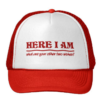 Ici je suis chapeau casquettes de camionneur