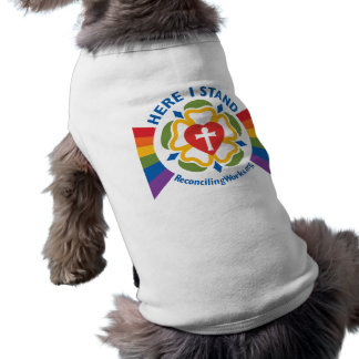 """""""Ici je tiens"""" le T-shirt d'animal familier T-shirt Pour Chien"""
