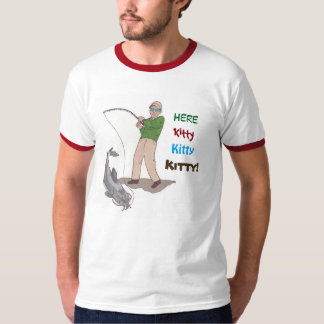 Ici Kitty, Kitty, Kitty pêchant le T-shirt