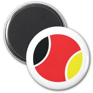 icône allemande de balle de tennis magnet rond 8 cm