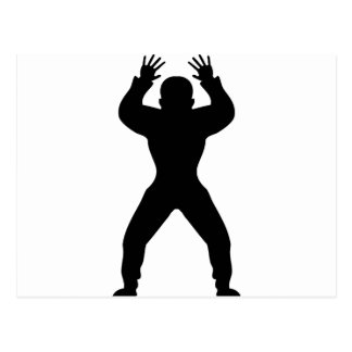 icône anormale de handball carte postale