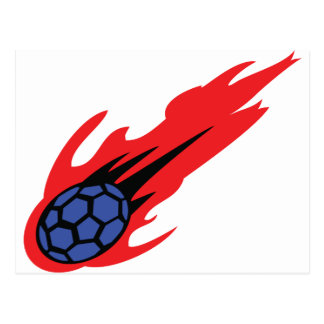 icône brûlante de handball carte postale