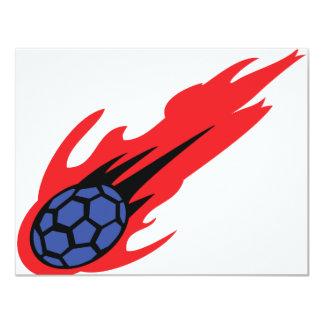 icône brûlante de handball faire-parts