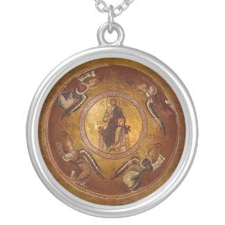 Icône chrétienne de Pantakrator de Jésus-Christ Collier