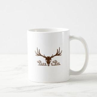 Icône d'arbre de Joshua de crâne de cerfs communs Mug