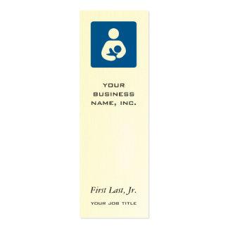 Icône de allaiter/soins modèles de cartes de visite