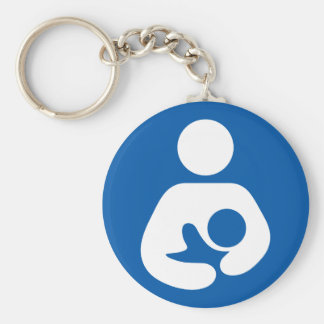 Icône de allaiter/soins porte-clé rond