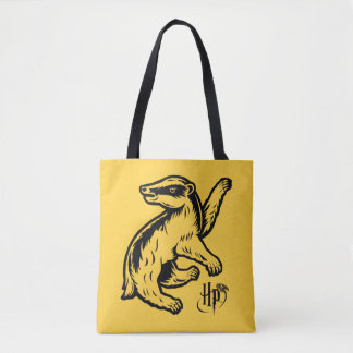 Icône de blaireau de Harry Potter   Hufflepuff Tote Bag