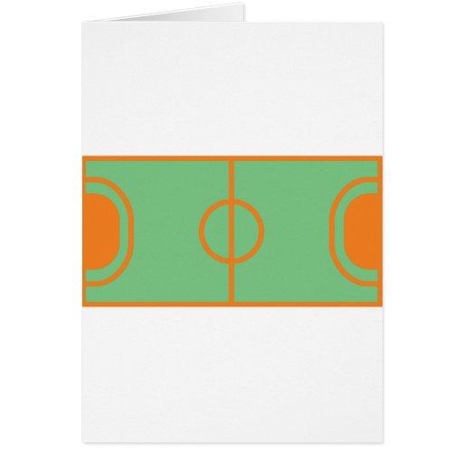 icône de champ de handball carte de vœux